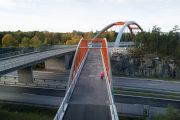The bridge of Västberga allé - Stockholm